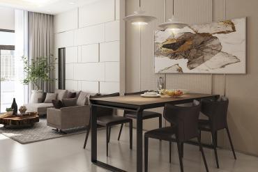 Tinh tế, mộc mạc với bản thiết kế căn hộ DIC Gateway