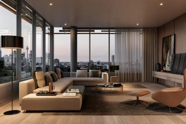 Mẫu thiết kế Penthouse hiện đại cho cuộc sống trẻ trung năng động