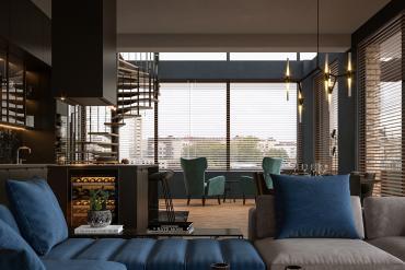 Đầy đủ tiện nghi với mẫu thiết kế căn hộ penthouse