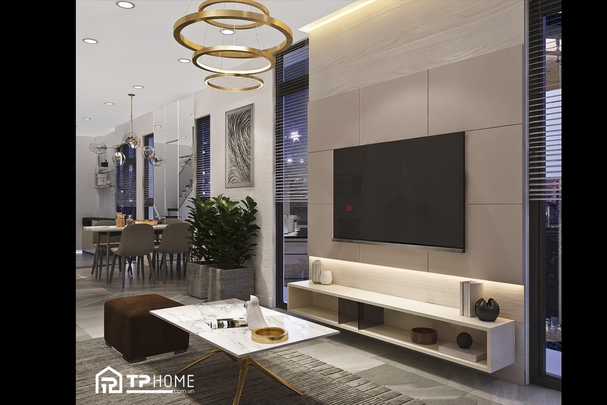 Trọn gói thiết kế nội thất nhà phố hiện đại tại Quận 8